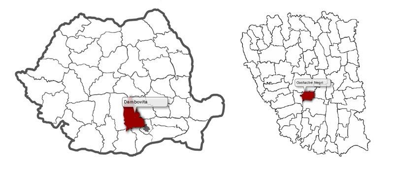 HARTA COMUNE ROMANIA
